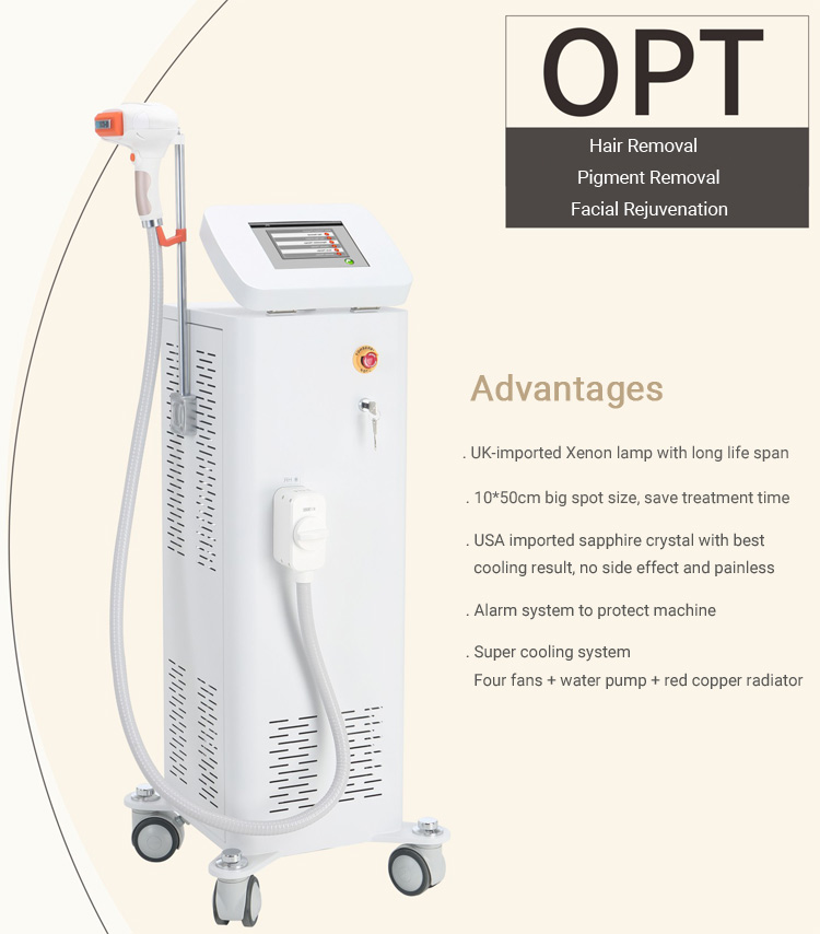 shr ipl treatment machine