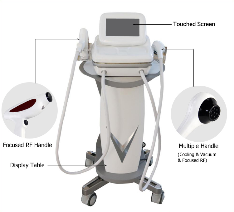Portable 40.68MHz rf thermolift facial machine for skin tightening and wrinkle removal