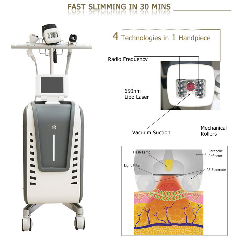 4 in 1 vacuum rf velashape machine